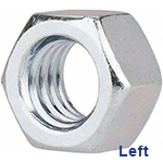 LEFT-HAND HEX NUTS