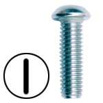 STAINLESS STEEL SLOTTED ROUND HEAD MACHINE SCREWS